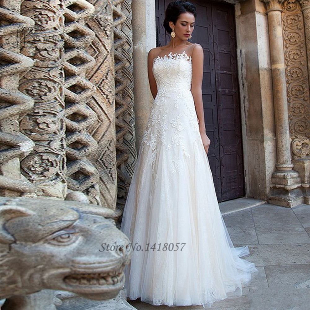 Robe de mariage summer lace wedding dress a line bride for Aliexpress robes de mariage