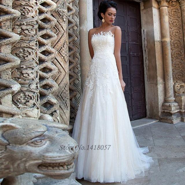 Robe de Mariage Summer Lace Wedding Dress A Line Bride Dresses 2017 ...