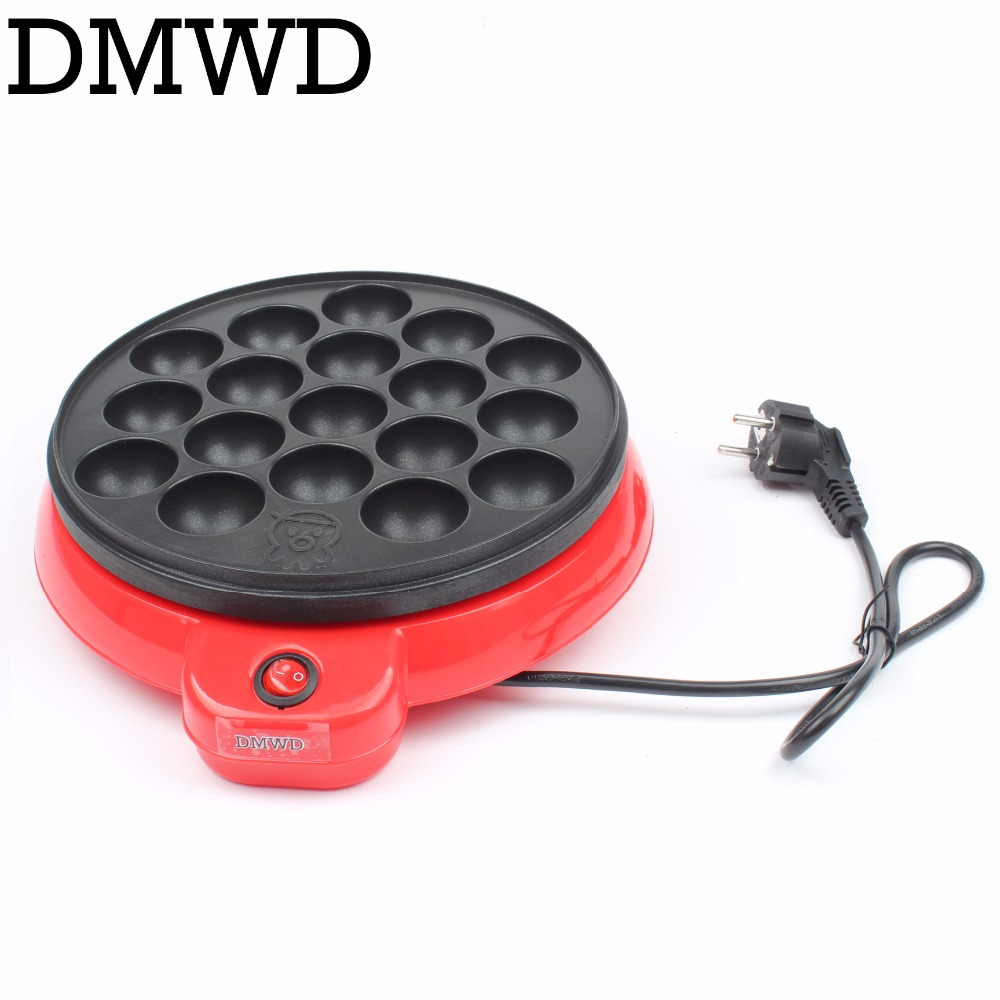 DMWD Japan Professional Octopus Ball Maker Takoyaki Baking Machine Mini Electric Chibi Maruko Grill Pan 110V 220V With 18 Holes