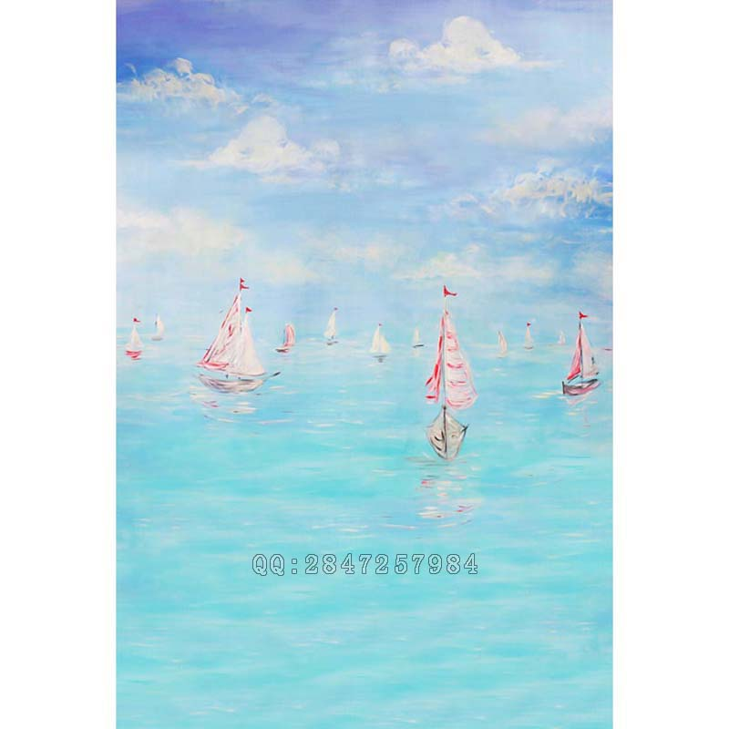 Gorgeous Sea Sky Sailboat Photography Backdrop photography Backgrounds For Photographic S-1200 набор банок для сыпучих продуктов polystar нарцисс 4 предмета l2520322