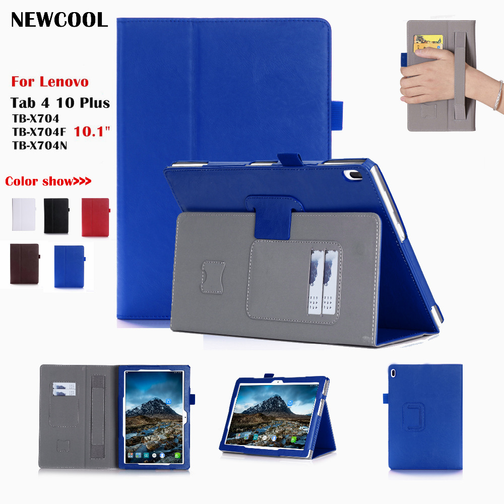 Tab 4 10 plus Magnet Leather Case Flip Cover for Lenovo TAB4 10 Plus TB-X704 TB-X704F TB-X704N tablet Case  Protective shell new slim folio bracket for lenovo a7 20f standing tablet cover for lenovo tab 2 a7 20 flip protective tablet case