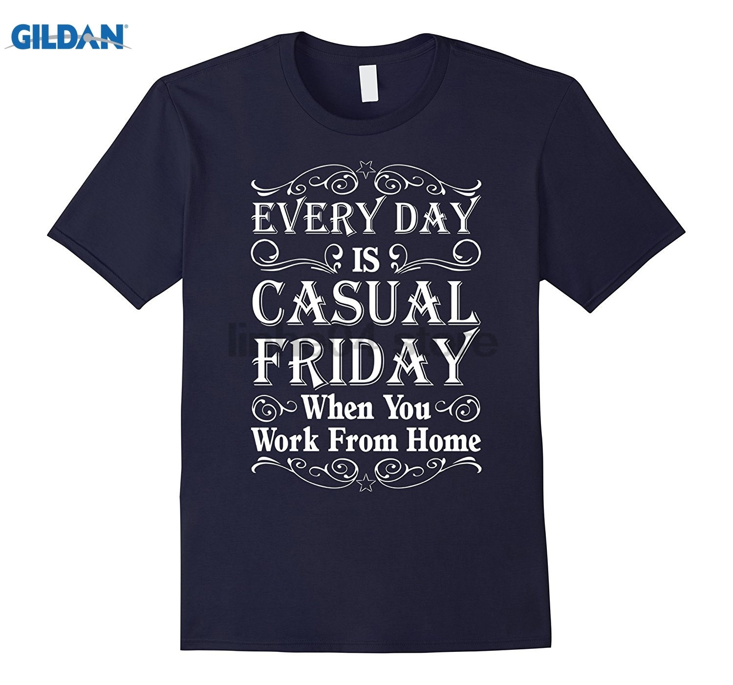 GILDAN Every Day Is Casual Friday When You Work From Home T-Shirt glasses Womens T-shirt