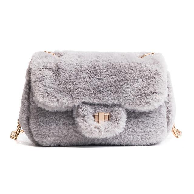 2017 Feminina цепь зима женская сумка клатч короткая плюшевая зимняя сумка Женская конверт сумка короткая плюшевая сумка Bolsas