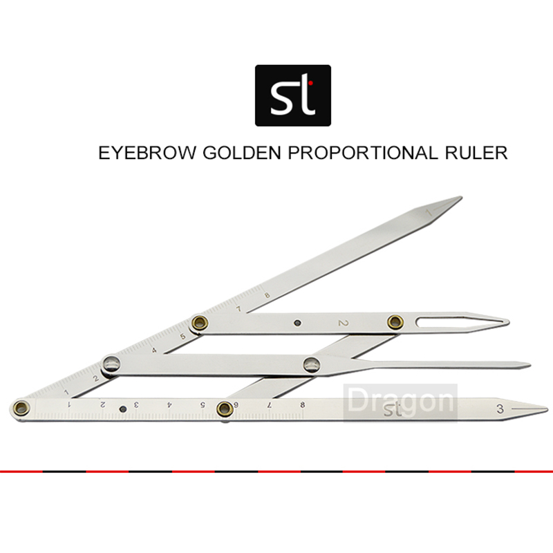 Golden Proportional Ruler Eyebrow Tattoo Measure Ruler Grooming Stencil Shaper Ruler Measure Tool Makeup free delivery level 24 in lightweight hard plastic 3 bubble triple ruler measure tool
