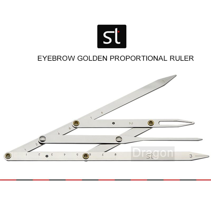 Golden Proportional Ruler Eyebrow Tattoo Measure Ruler Grooming Stencil Shaper Ruler Measure Tool Makeup adjustable ruler measure rc car height