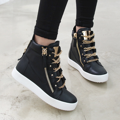 High Quality 2016 Women High Top Sneakers Women Platform