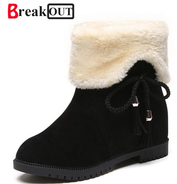 Break Out New Fashion Fur Female Warm Ankle Boots Women Boot Snow Boots And Autumn Winter Women Shoes Non-Slip Shoe For Women new 2017 fashion female warm ankle boots lace women boots snow boots and autumn winter women shoes