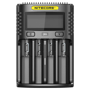 Image 5 - 100% original nitecore um2 um4 usb carregador de bateria qc circuitos inteligentes seguro global li ion aa aaa 18650 26650 21700