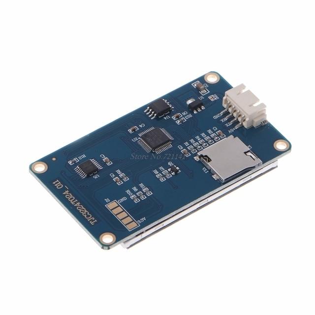 """2.4 """"UART HMI 320x240 شاشة تعمل باللمس الذكية مصباح وحدة شاشة الكريستال السائل TFT دروبشيب"""