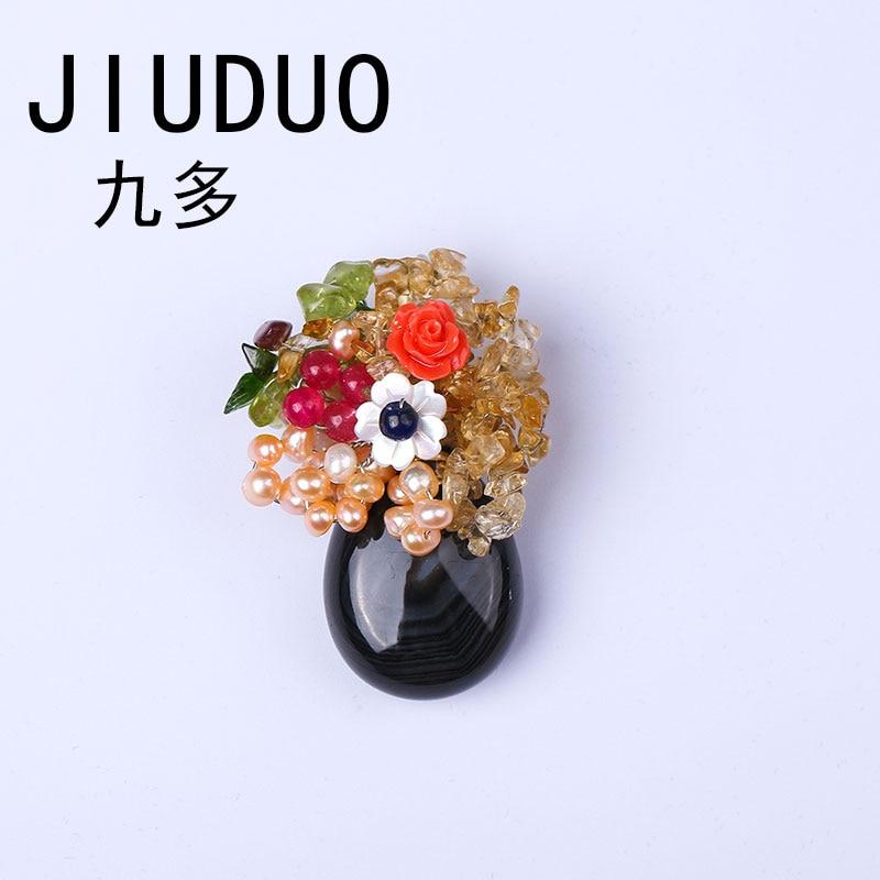 Aktiv Jiuduo Authentische Perle Brosche Weiblichen High-end-anzug Corsage Koreanische Pin Schmuck Abzeichen Zubehör Natürliche Mutter Puihuo Kristall