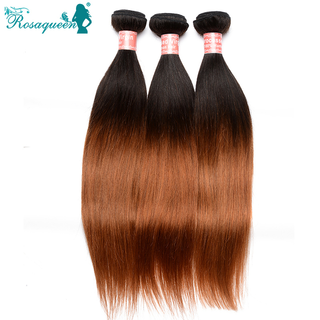 Ombre Brazilian Hair Straight 3Pcs/Lot Two Tone 1B/30 Ombre Human Hair Extensions Brazilian Virgin Hair Straight