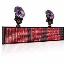 뜨거운 p5mm wif 실내 led 표지판 패널, 12 v 자동차 스크롤 광고 메시지 보드 레드 smd 디스플레이 화면 지원 ios 전화 입력 + 2 빨판