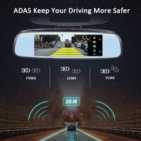 vehicel E09 4G DVR Camera Android 5.1 with GPS DVRs Automobile Video Recorder Rearview Mirror Camera Dash Ca