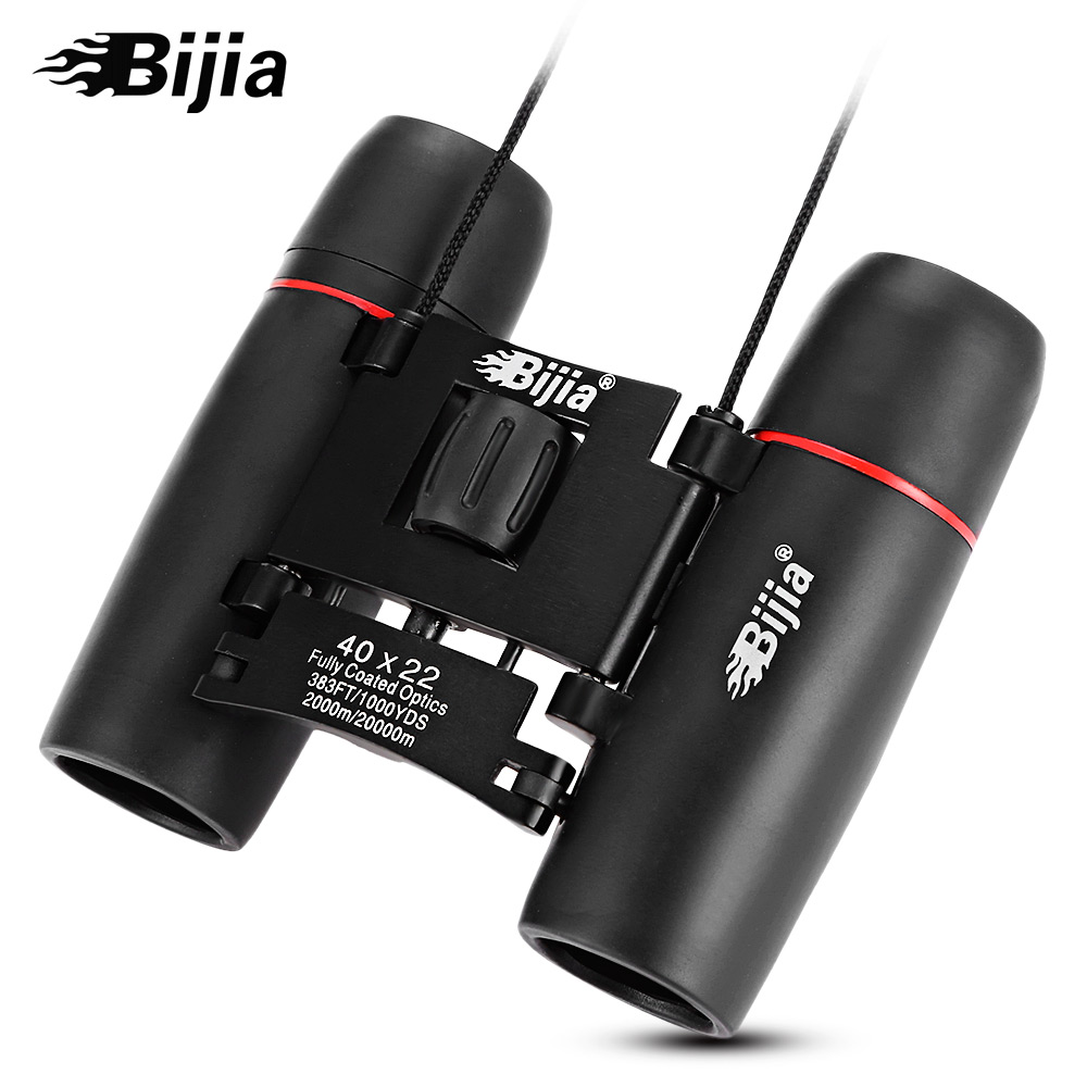 цены BIJIA 40X22 2000M / 20000M HD Vision Zoom Binocular Telescope Wide-angle Prism Outdoor Folding Telescope
