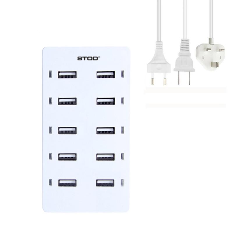 STOD Multi Port USB Ladegerät 50W LED Licht Ladestation Für iPhone - Handy-Zubehör und Ersatzteile - Foto 3