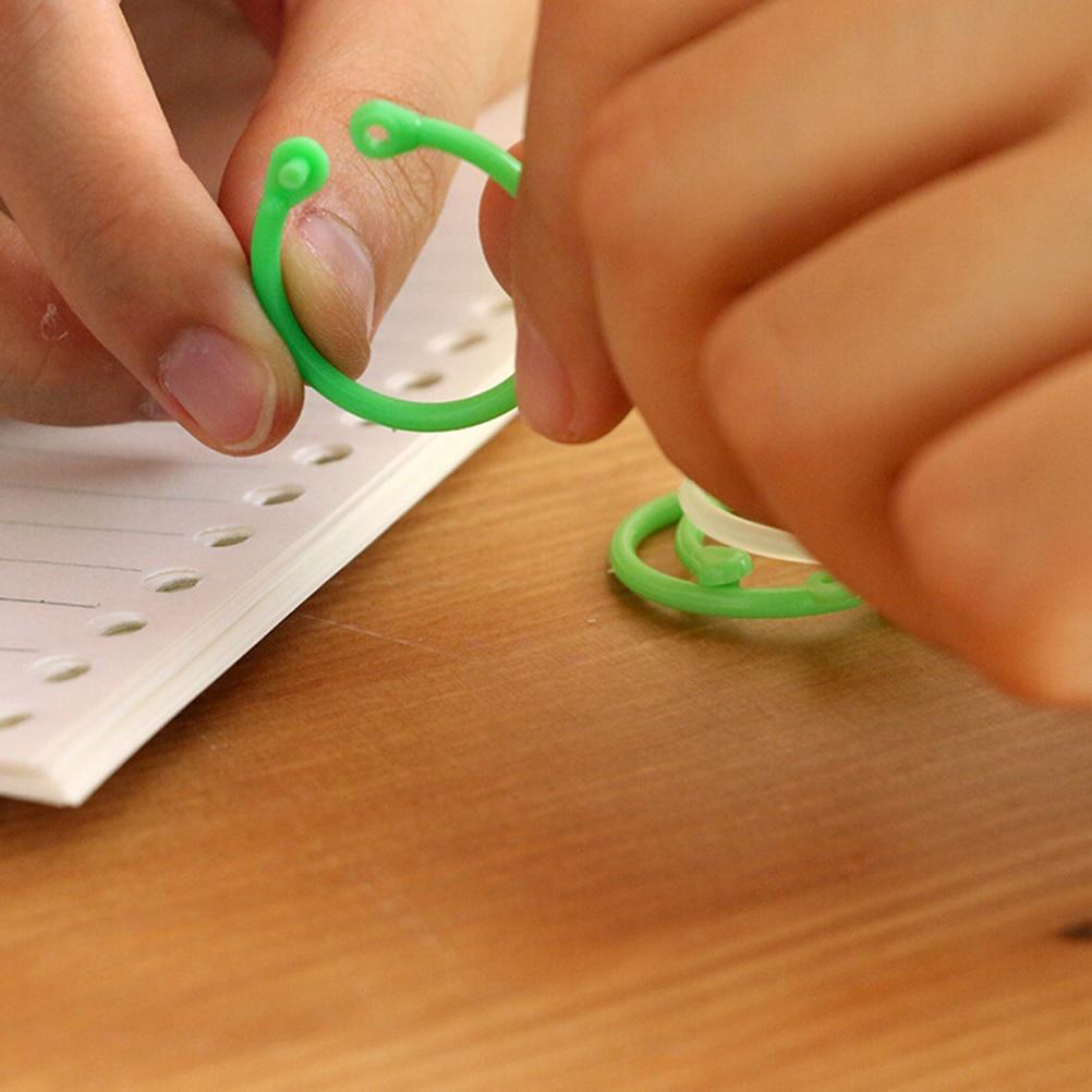 12Pcs new Circle Rings String Keys Kawaii Korean Easy Ring Paper Book Loose Leaf Binder Keychain Key Stationery Office 25mm suporte de celular para parabrisa
