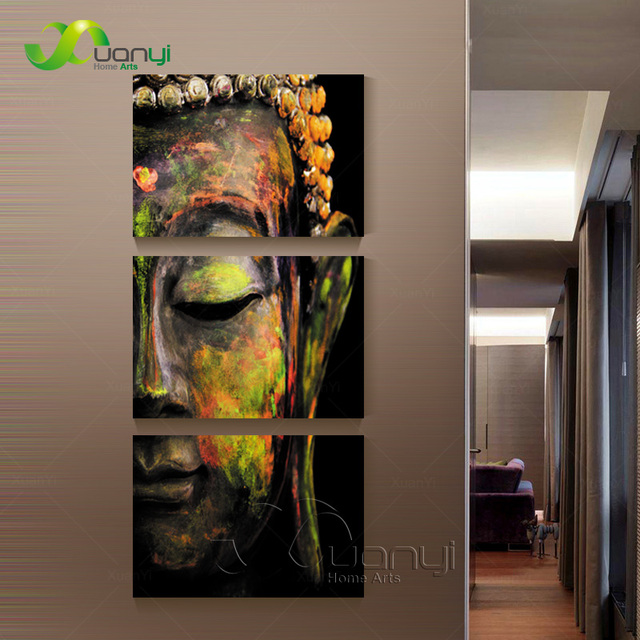 3 piece canvas wall art canvas painting buddha canvas art oil painting wall decorations living room