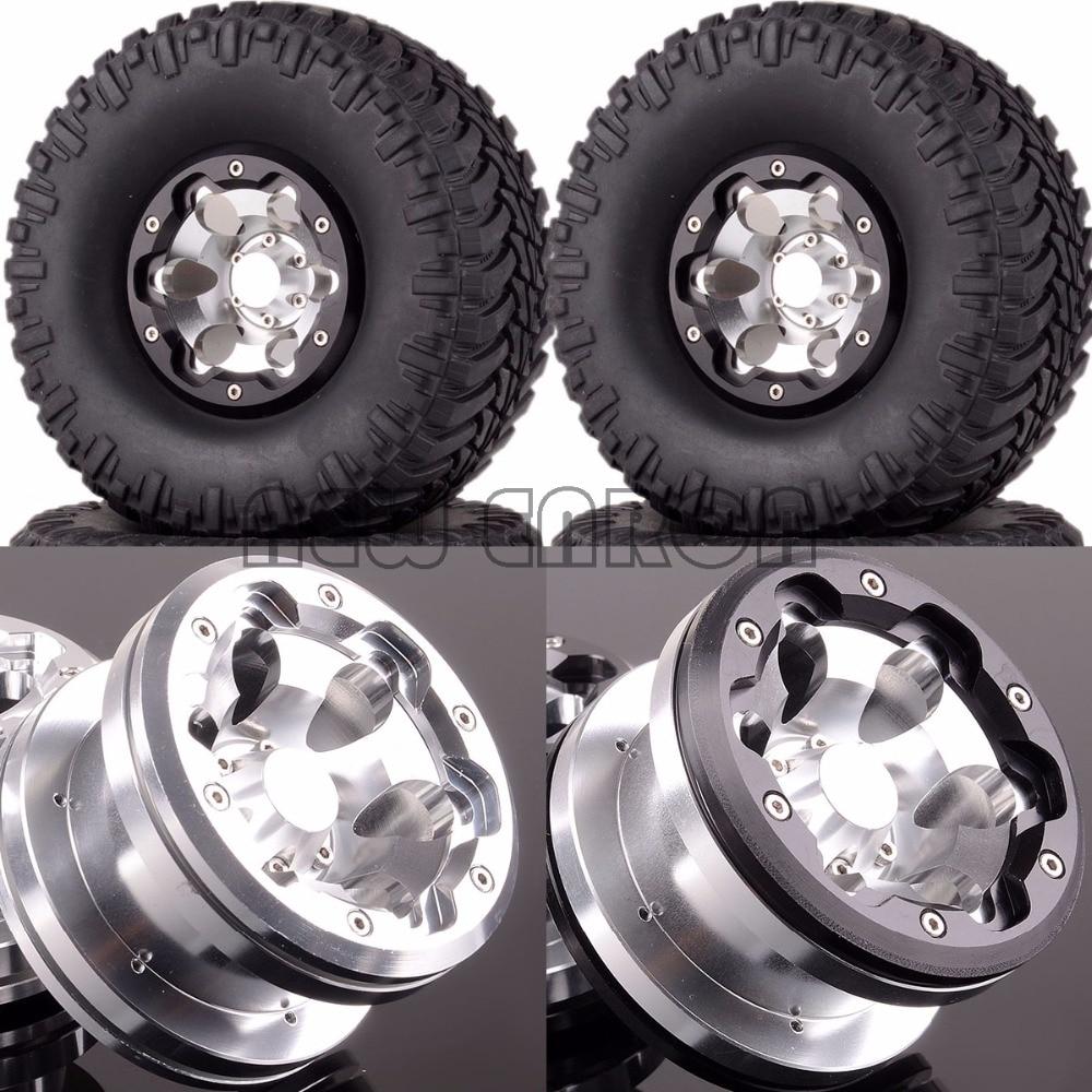 NEW ENRON 1:10 RC 1/10 Aluminum 2.2 Inch Beadlock Wheels & Tires 2023-3033 FOR Axial Traxxas new enron 1 10 set aluminum 2 2 beadlock wheels