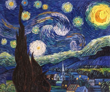 Starry Night II by Vincent Van Gogh Handpainted