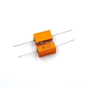2PCS RX24 5W Aluminium Housed High Power Resistor Metal Shell Heatsink 1 2 3 4 5 10 20 50 100 200 1K ohm Multiple Resistance(China)