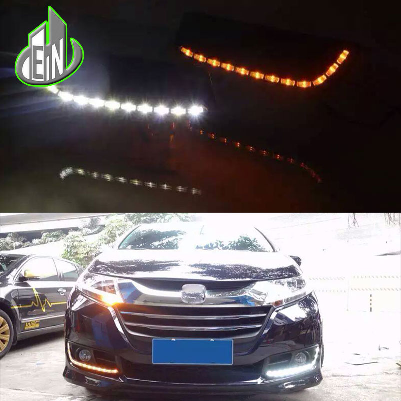 2Pcs Car LED DRL Kit For Honda Odyssey 2014-2017 DRL Fog Lamp Cover Daytime Running Lights with turn signal 12V Daylight 6 LED microwave contactless motion sensor switch for automatic door opener