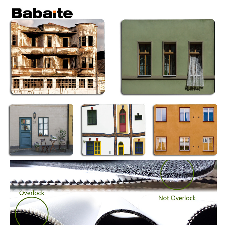 Babaite Cool New Architecture Laptop Computer Mousepad Size for 18x22cm 25x29cm Rubber Mousemats