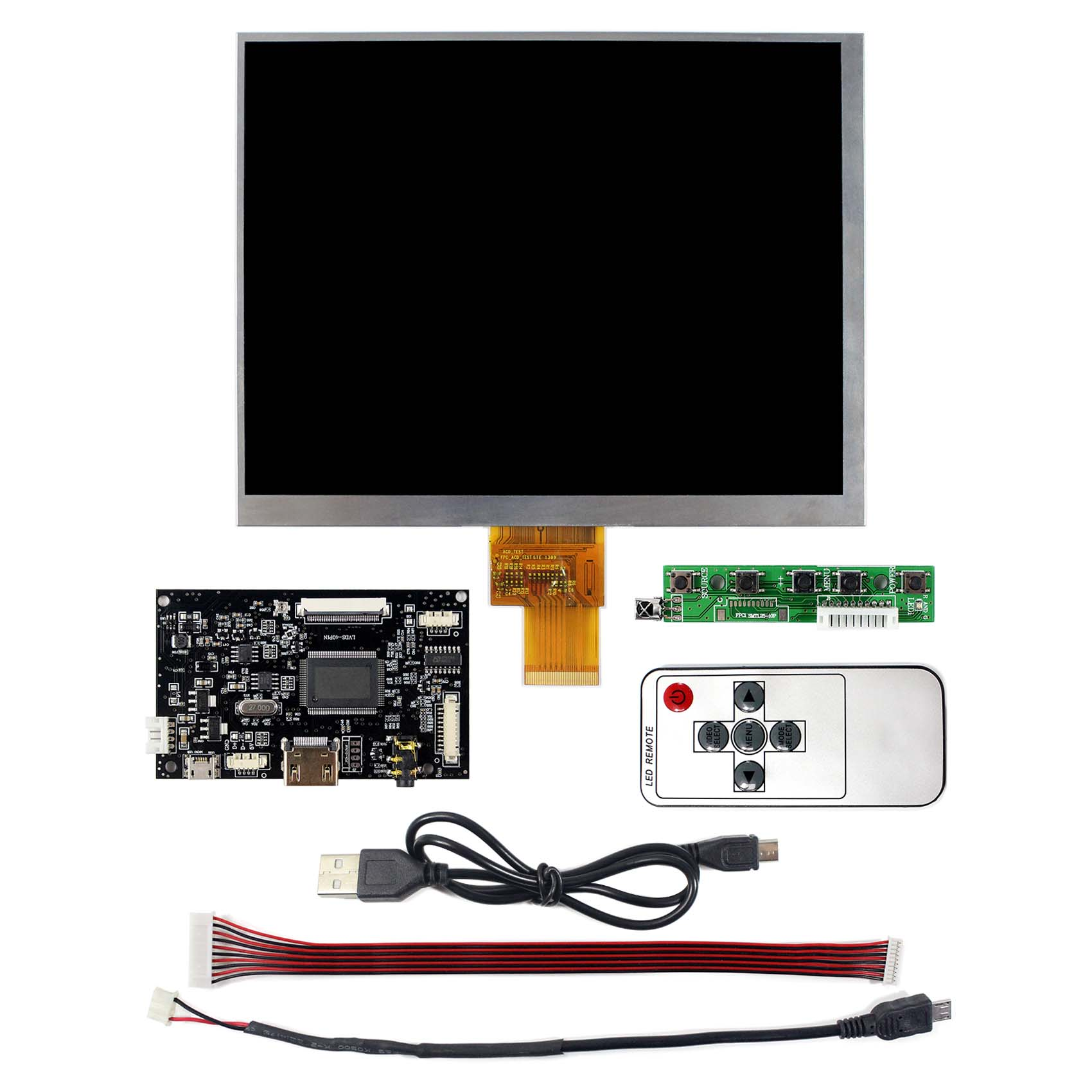 8 inch IPS LCD 1024X768  HJ080IA-01E with HDMI LCD Controller Board Fit To Raspberry Pi