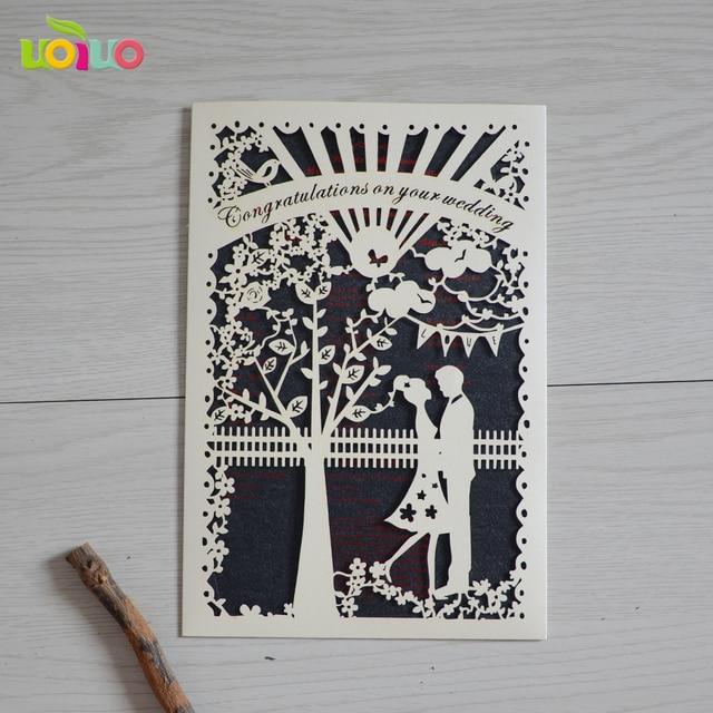 Schön Tasche Liebe Baum Royal Hochzeitskarte Design Laser Geschnitten Einladung  Romantische Paar Hochzeit Gefälligkeiten
