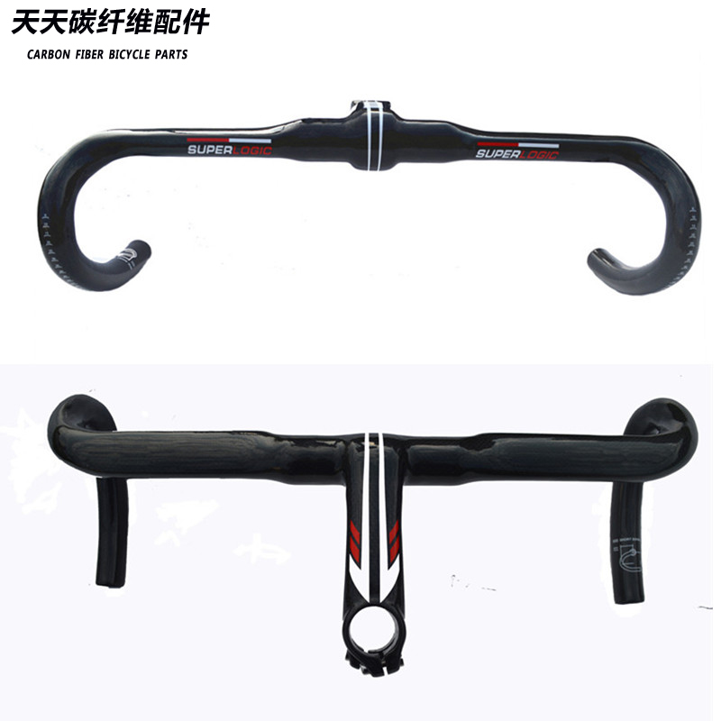 2016 new superlogic Full Carbon Fiber Road Bicycle Integrated Handlebar with stem Carbon Road Handlebar Bike Parts 28.6mm superlogic new full carbon handlebar road bicycle handlebar and stem carbon fiber integrated handlebar with stem ud 265g