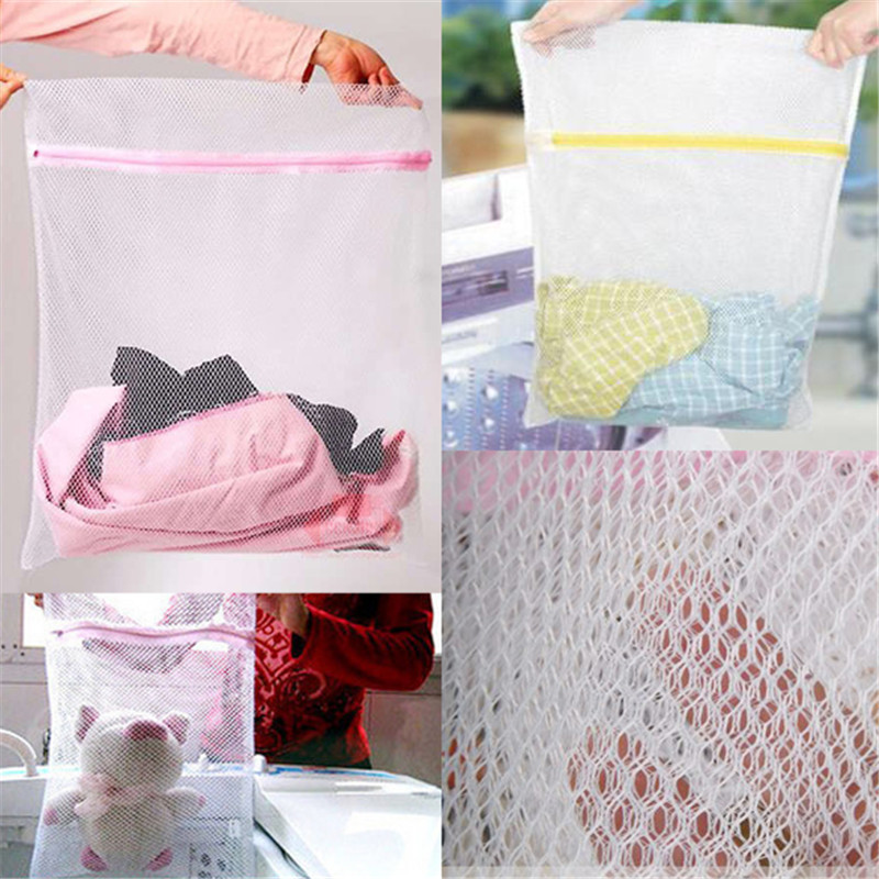 Lingerie Washing Home Use Mesh Clothing Underwear Organizer Washing Bag Mesh Net Bra Wash Bag Zipper Laundry Bag