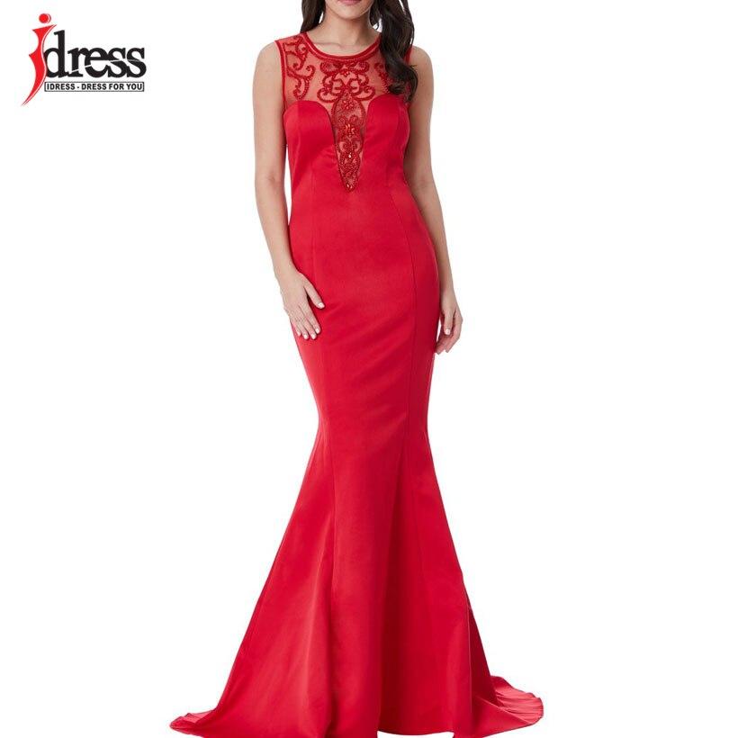 IDress Sexy Sleeveless Celebrity Party Dresses Long Ruffles Mesh Bodycon Mermaid Dress Dames Jurken Zomer 2018 Women Maxi Dress