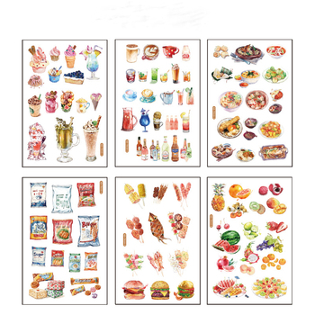 6 pcs/pack Ice Cream Fruit  Decorative Stationery Stickers Scrapbooking DIY Diary Album Stick - discount item  22% OFF Stationery Sticker