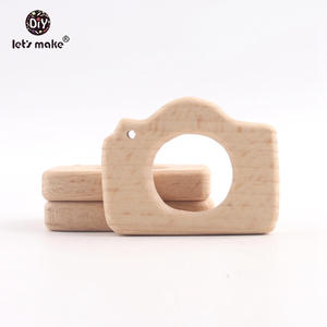 Image 5 - Lets Make Baby Teether Natural Wooden Shape Animals Teether Toy 20PC Unfinished Animal Beads Baby Safe Sensory Grasping Toy