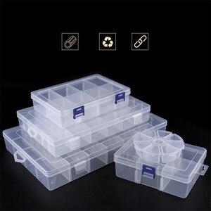Регулируемый 3-36 пластиковый ящик для хранения ювелирных изделий, сережек, бусин, винтовой держатель, чехол, органайзер для дисплея, контейнер