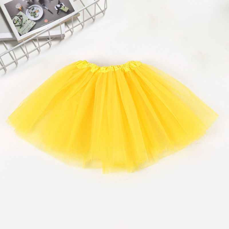 10 צבעים ילדי ילדי שלוש שכבות בלט ריקוד טוטו חצאית קלאסי מוצק צבע מיני קפלים שמלת אלסטי מסיבת תחתוניות