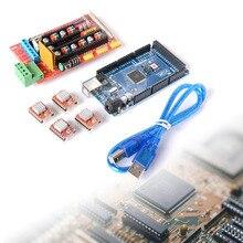 Mega 2560 R3 + 1pcs RAMPS 1.4 Controller + 4pcs A4988 Stepper Driver Module for 3D Printer kit Reprap MendelPrusa Free Shipping