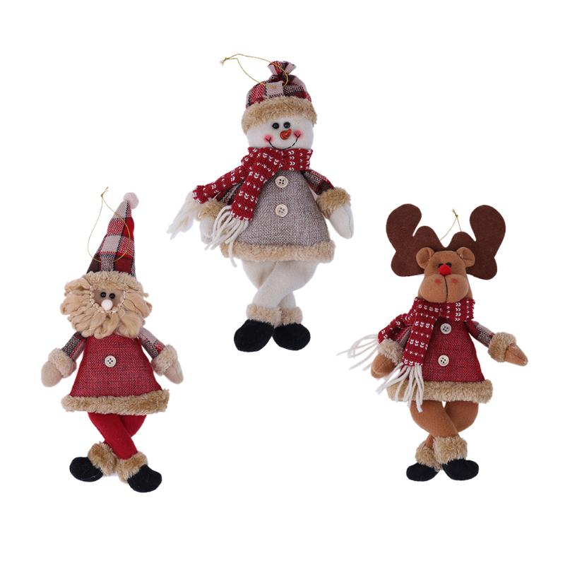 1pc Baby Christmas Doll Toy Seat Ornaments Santa Claus Snowman Dolls Pendant Deer Home Decor Kids Gift Dolls