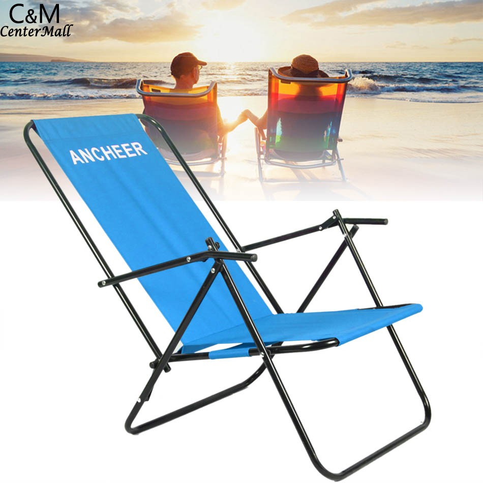 ANCHEER Portable Chair Outdoor Furniture for Camping Folding Recliner Beach Chair with Armrest grohe смеситель