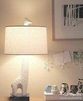 European Fashion Creative Lighting Table Lights Bedroom Lamp Study Minimalist Ikea Fabric Living Room Table Lamps
