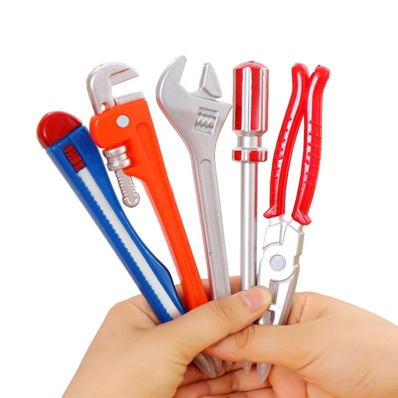Ball Pens Simulation Hardware Tools Vise Hand Knife Hammer Pistol Modelling Ballpoint Pen Student Learning Prizes Gift 1PCS