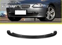 Автомобилей углерода Волокно авто передняя губа SPLITTER фартук автомобиль Стайлинг для BMW E85 Z4 2002 2009 автомобилей для укладки аксессуары