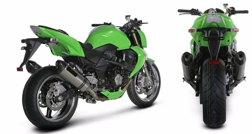Pour kawasaki z1000 2003 2004 2005 2006 moto échappement moyen lien tuyau rond 51mm pour kawasaki z1000 ninja1000 2003-2006 - 6