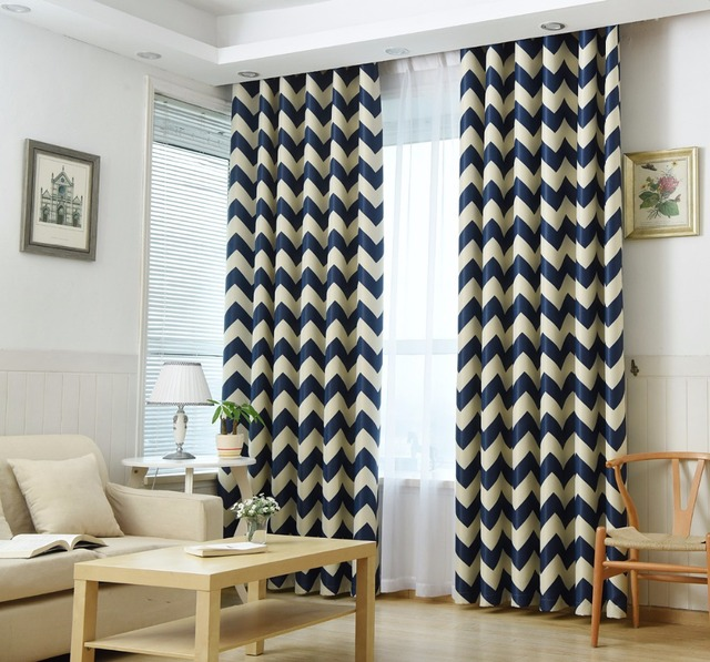 Sinogem Chevron Design Blackout Window Curtain Panel For Children Room Baby  Room Modern Living Room Japanese