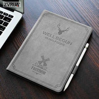 For New iPad 9.7 inch 2017 2018 Air 1 2, Auto Sleep Smart Cover Deer Pattern PU Leather Soft silicone Case with Pencil Holder - DISCOUNT ITEM  26 OFF Computer & Office