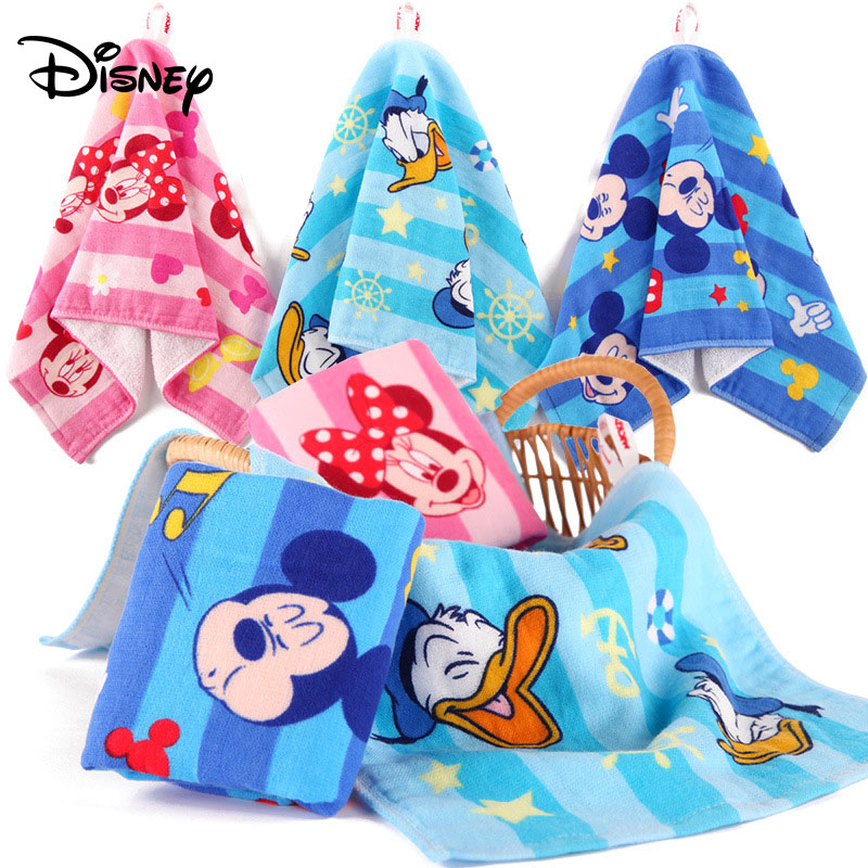 Disney Candy Color Princess Printed Cotton Rectangle Gauze Face Towel Newborn Baby Cartoon Hand Bathing Bibs Towels Handkerchief