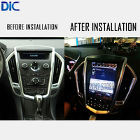 DLC Android system 6.0 navigation multimedia car player 10.4 inch car styling GPS navigation video For Cadillac SRX 2009 2012