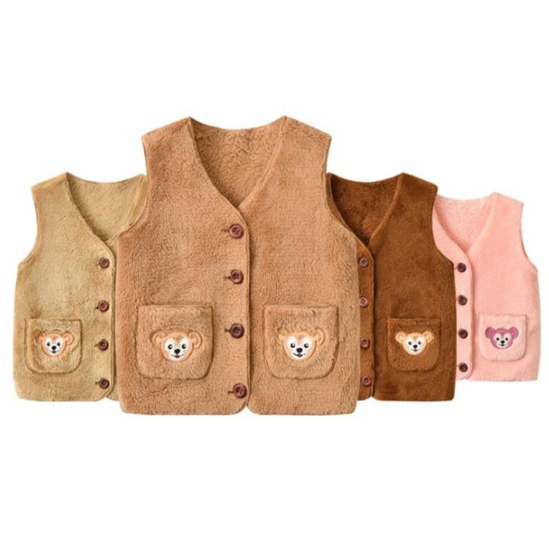 Vests Jackets Newborn-Baby Winter Coats Outerwear Girls Autumn Warm Cartoon for Boys