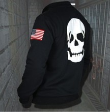 Biohazard Umbrella Resident Evil Coat skull Cosplay Costume Hoodie Jacket sweater01