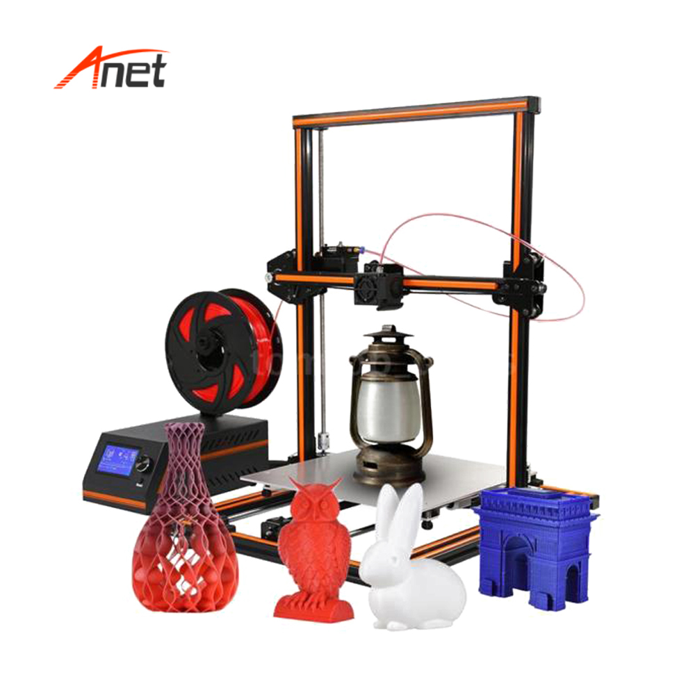 Anet A8 A6 E10 E12 Latest and Popular Impresora 3d Educational Gift DIY Printer Large Printing Size Imprimante Best Price