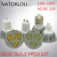 Led lamp 3w GU10 GU5.3 E27 die-casting lamp cup MR16 pin 12v white light warm white natural white indoor light source(China)